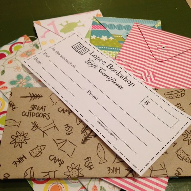 Gift Certificates Lopez Bookshop